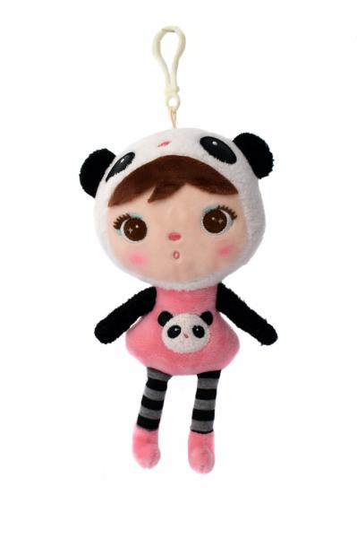 Mini handrová bábika Metoo s klipom medvedík Panda, 22 cm
