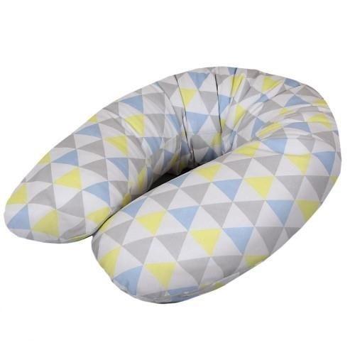 Dojčiaci vankúš - relaxačná poduška Cebuška Physio Multi - trojuholníky