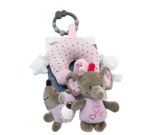 Tulilo Závesná plyšová hračka Sloník - ružový, K19