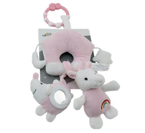 Tulilo Závesná plyšová hračka Jednorožec - ružový, K19