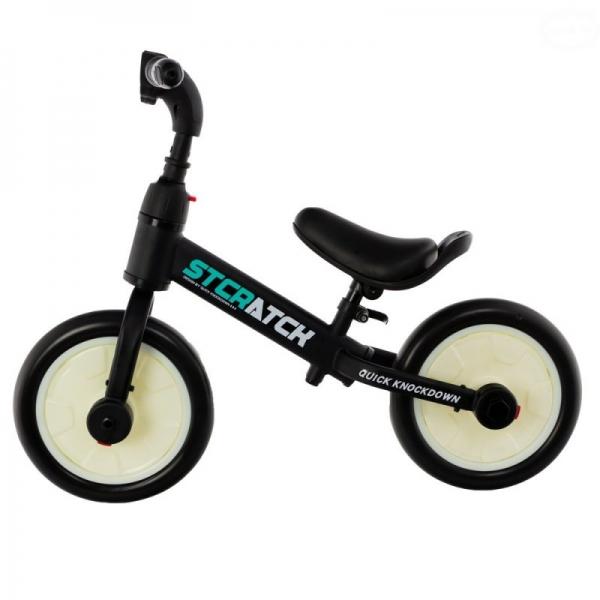 Euro Baby Detské odrážadlo, bicykel 2v1 Plus - čierné