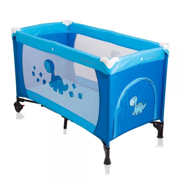 Cestovná postieľka SAMBA DINO Coto Baby - modrá
