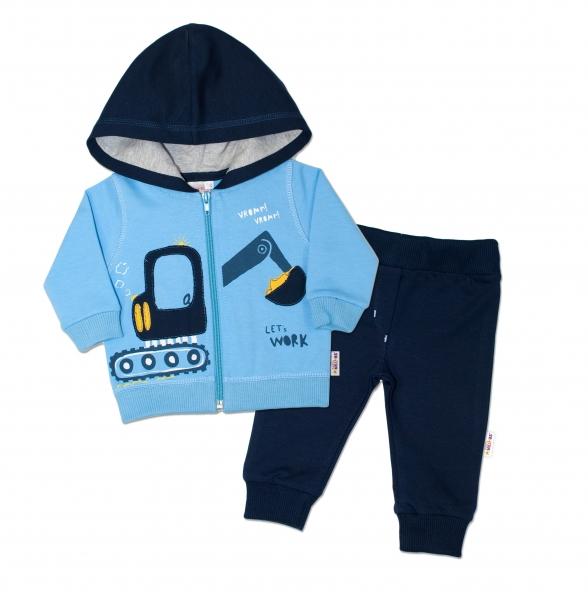 e71b0f393e03 K-Baby Tepláková súprava s kapucňou Bager - sv. modrá tm. modrá