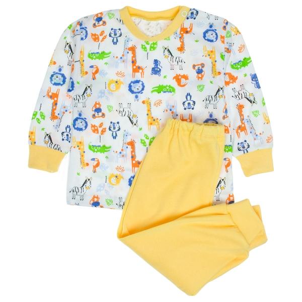 MBaby Bavlnené pyžamko Zoo - biele-80 (9-12m)