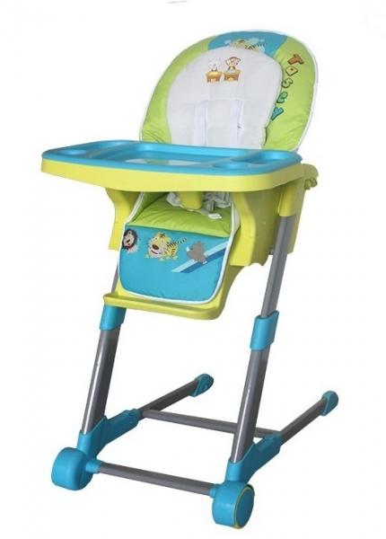 Detská multifunkčná jedálenská stolička Euro Baby - modrá, zelená D19