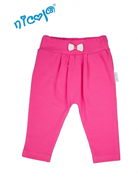 Nicol Bavlnené tepláčky Lady - růžové, veľ. 80-80 (9-12m)