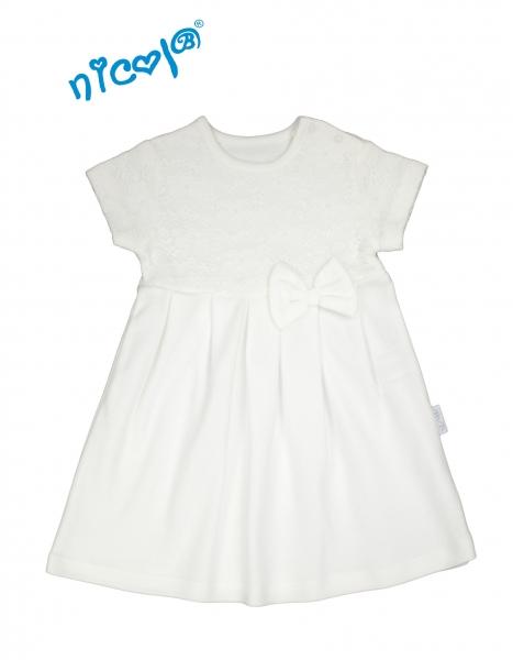 Nicol Dojčenské šaty Lady - biele, veľ. 98