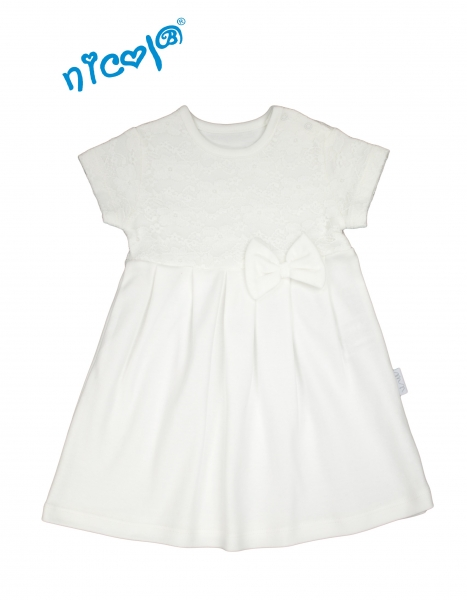 7fc5908754fd Nicol Dojčenské šaty Lady - biele