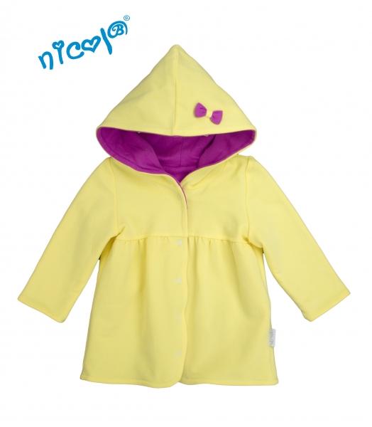 Nicol Dojčenský kabátik /bunda Lady - žltá /fialová, veľ. 74-74 (6-9m)