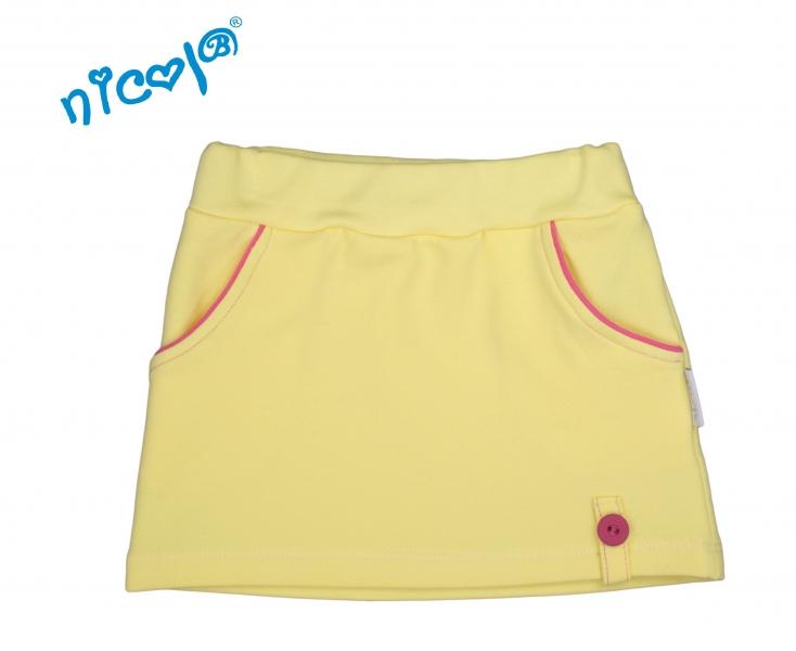 Nicol Dojčenská sukne Lady - žltá, veľ. 80