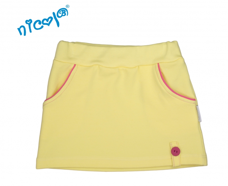Nicol Dojčenská sukne Lady - žltá, veľ. 86