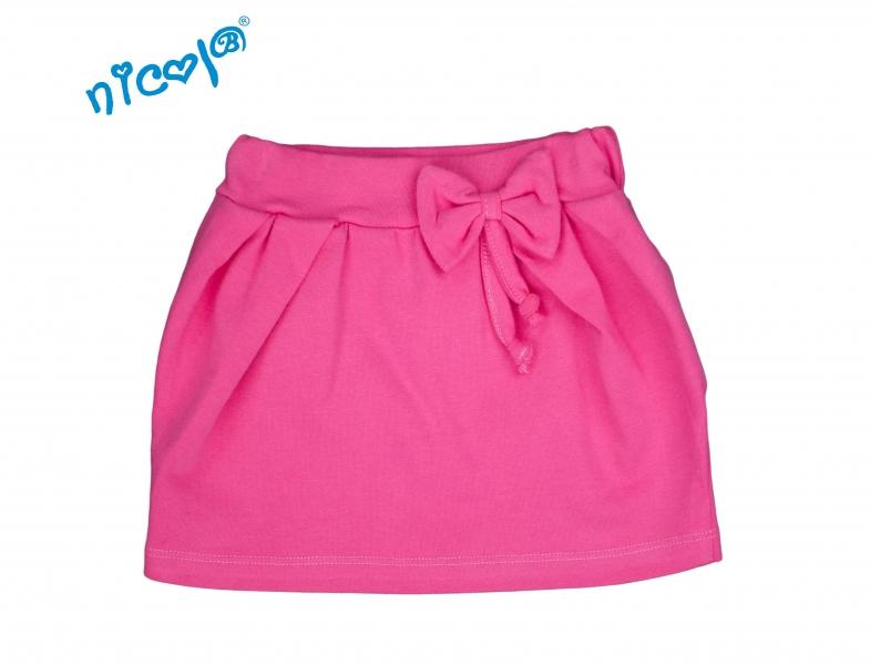 Nicol Dojčenská sukne Lady s mašlou - růžová, veľ. 80-80 (9-12m)