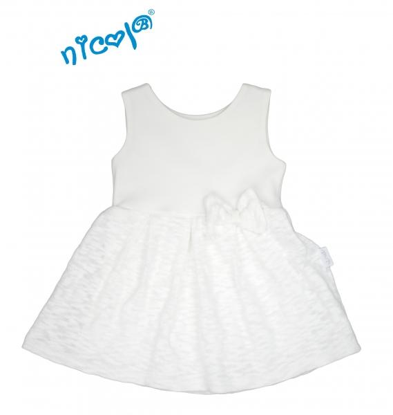 Nicol Dojčenské šaty Lady na ramienka - biele, veľ. 104-104