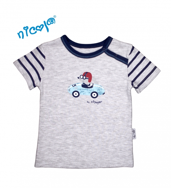 Bavlnené tričko Nicol, Car - krátky rukáv, veľ. 80-80 (9-12m)