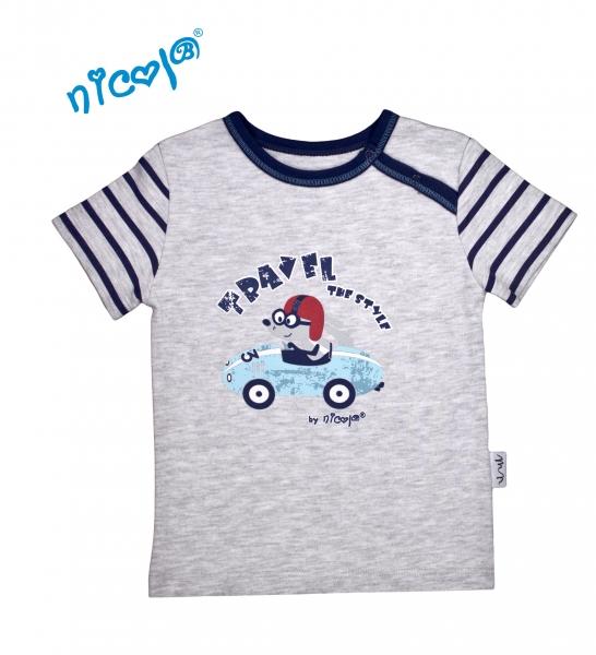 Bavlnené tričko Nicol, Car - krátky rukáv, veľ. 98