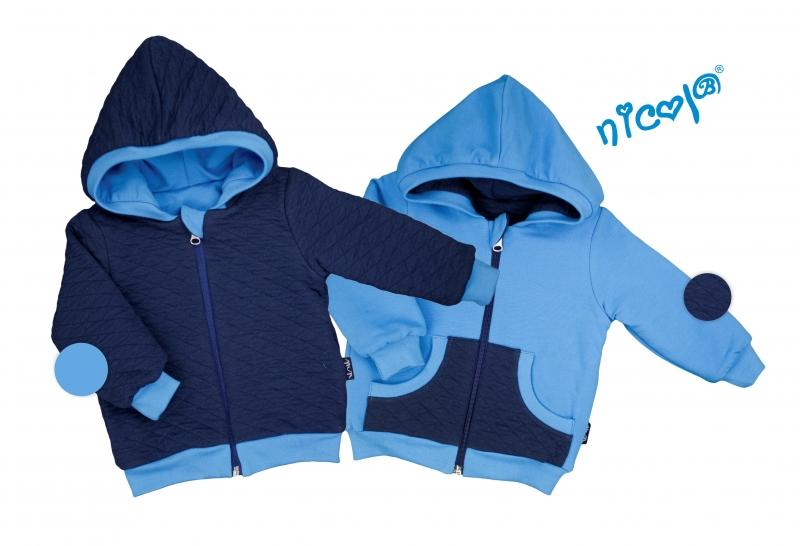 Detská bunda Nicol obojstranná, Car - granát / modrá, veľ. 92