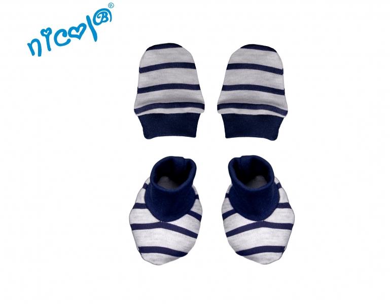 Dojčenská sada Nicol - rukavičky s topánočkami Car