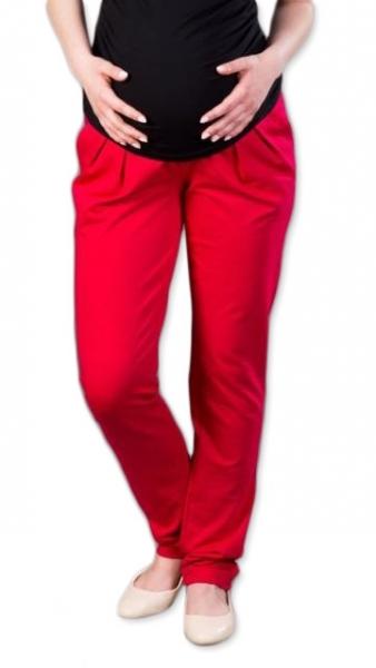 Tehotenské nohavice/tepláky Gregx, Awan s vreckami - červené, veľ. L