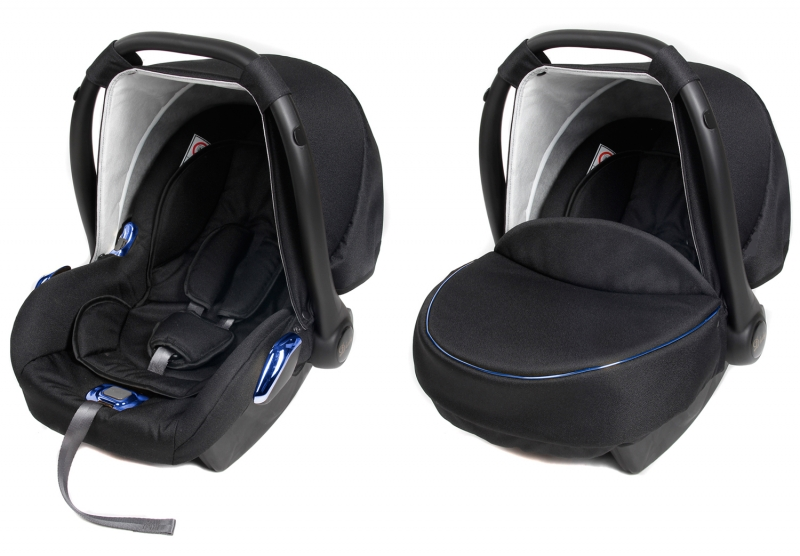 Detská autosedačka / vajíčko BLUE METALIC - čierna / modrá