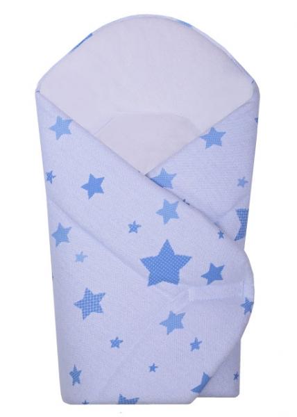 Novorodenecká zavinovačka Hviezda Baby Nellys z úpletu - modrá