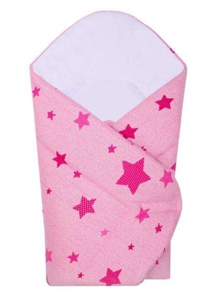 Novorodenecká zavinovačka Hviezda Baby Nellys z úpletu - ružová