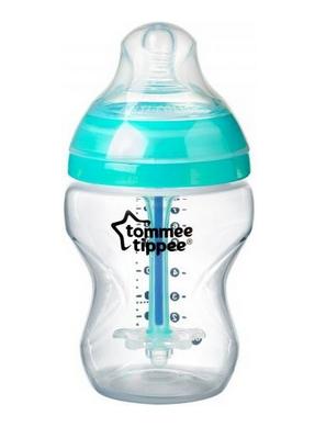 Dojčenská fľaša antikoliková Tommee Tippee Advanced tyrkysová - 260 ml