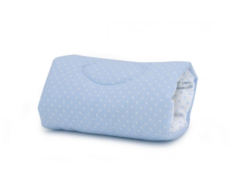 Dojčiaci vankúš na ruku Baby Nellys, Bodky - modro/biele
