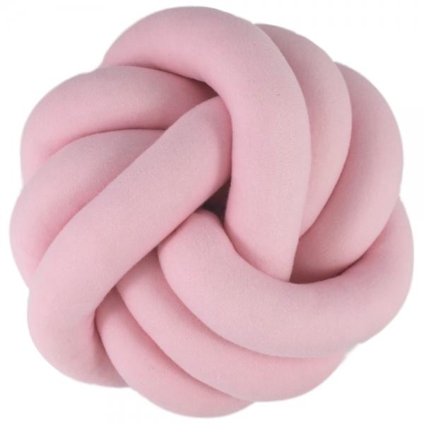 Dekoračný plyšový vankúš Handmade Uzlík - ružový