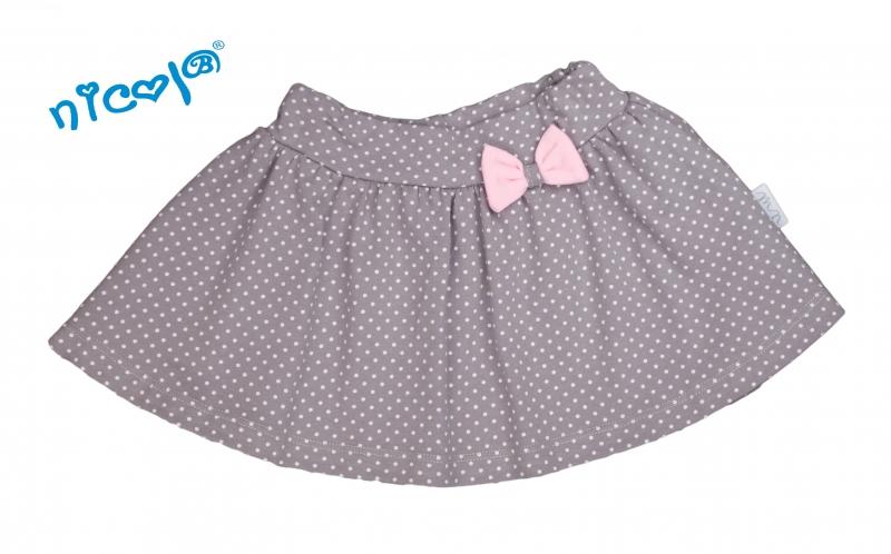 Dojčenská sukne Nicol, Paula - sivá, veľ. 68-68 (4-6m)