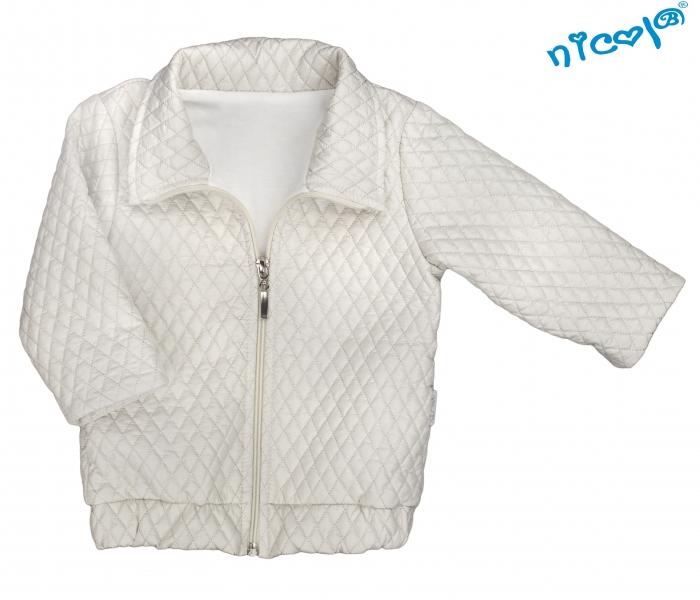 Dojčenská bunda Nicol, Paula - sivá, veľ. 104