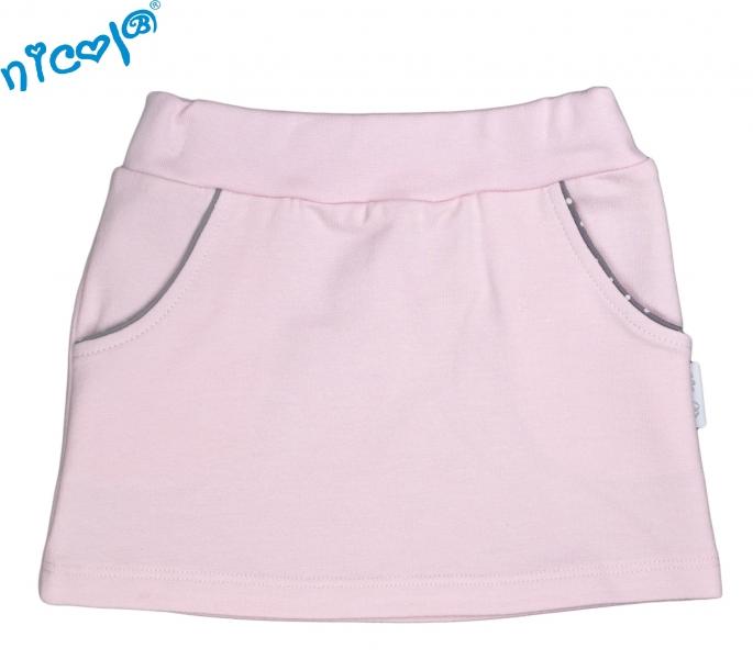 Dojčenská sukne Nicol, Paula - růžová, veľ. 74-74 (6-9m)