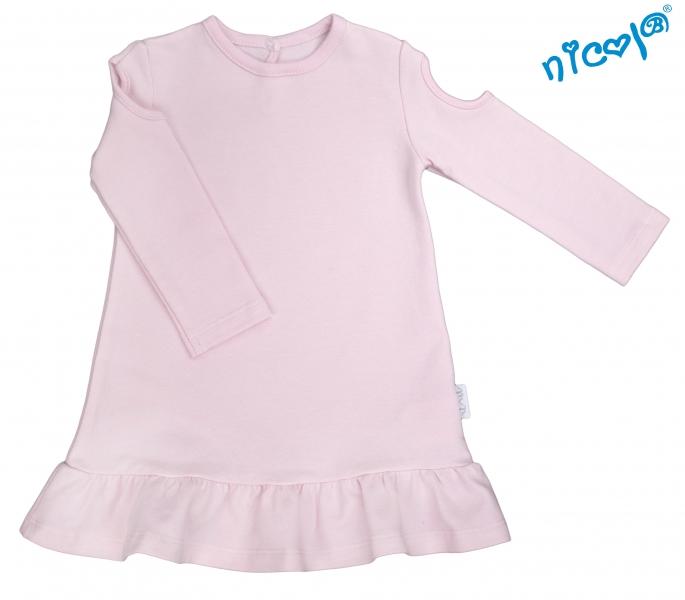 Dojčenské šaty Nicol, Paula - růžové, veľ. 98