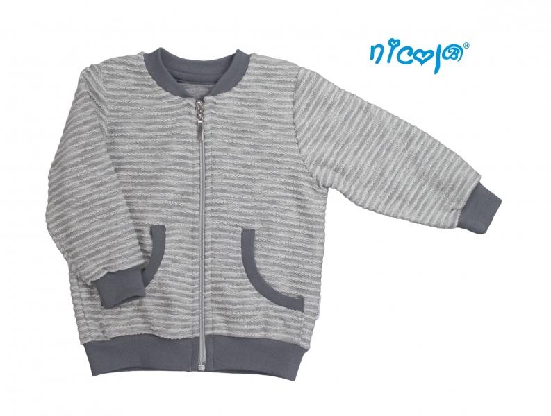 Mikina Nicol, Rhino - sivá, veľ. 128-#Velikost koj. oblečení;128