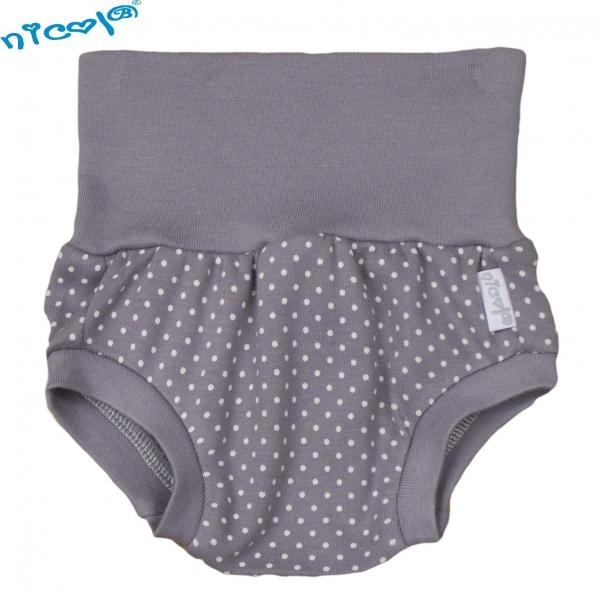 Bavlnené nohavičky, kraťasky Nicol, Paula - sivé-0/3měsíců