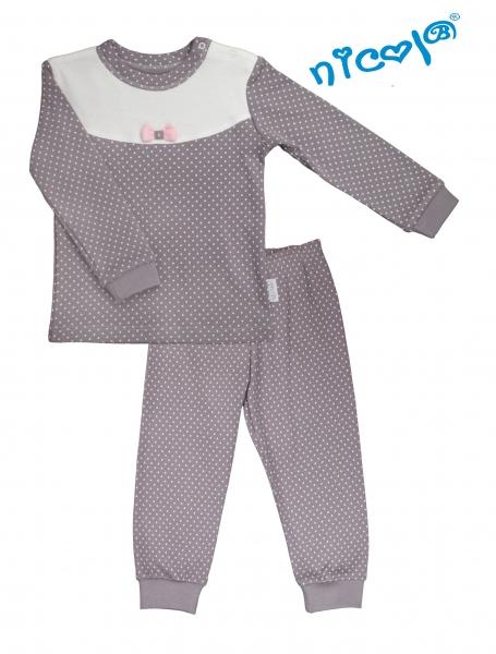 Detské pyžamo Nicol, Paula - sivo/biele-86 (12-18m)