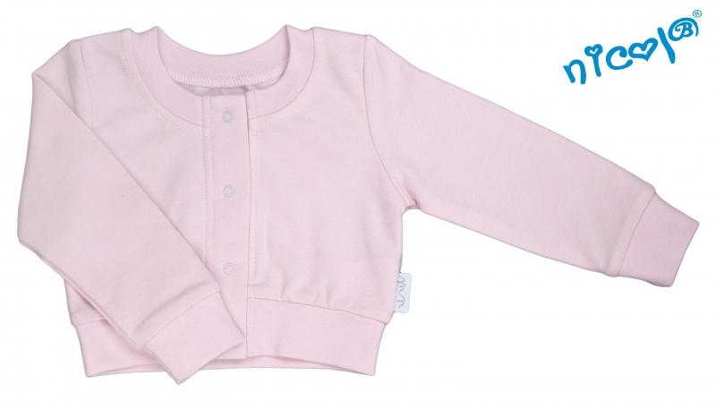 Dojčenské bolerko Nicol, Paula - růžové-68 (4-6m)