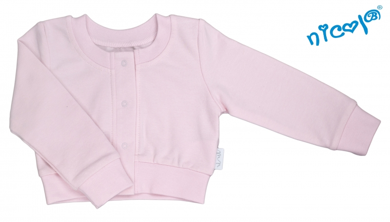 Dojčenské bolerko Nicol, Paula - růžové, veľ. 74-74 (6-9m)