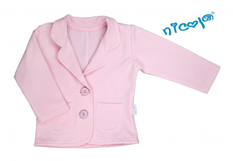 Dojčenské sako/bolerko Nicol, Paula - růžové, veľ. 86-86 (12-18m)