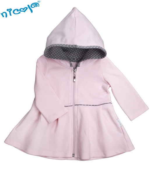 Detský kabátik/ bundička Nicol, Paula - ružová, veľ. 86