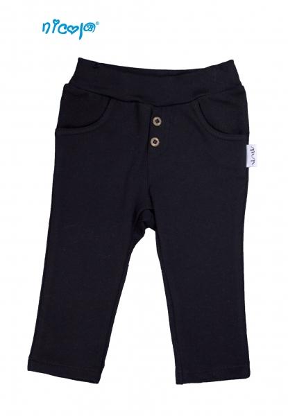 Kojenecké tepláky/kalhoty Nicol, Rhino - čierne, veľ.74-74 (6-9m)