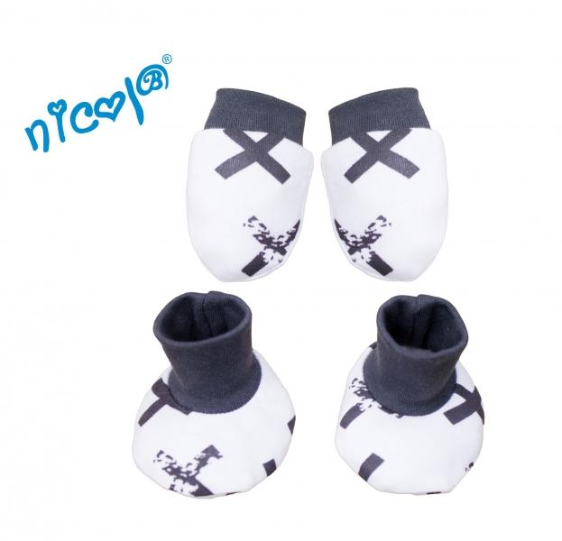 Dojčenská sada Nicol - rukavičky s topánočkami Rhino, veľ. 0/3 m
