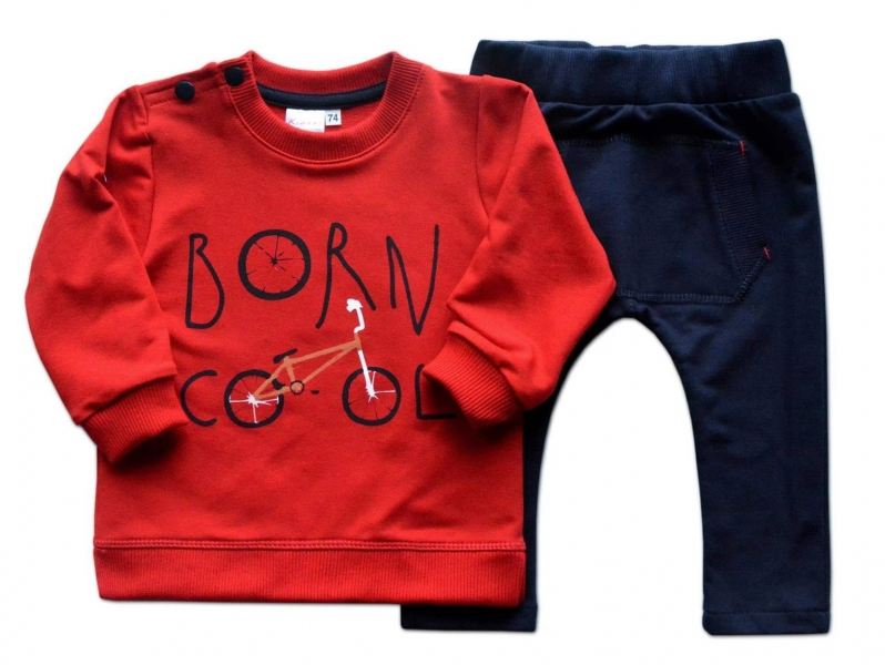 K-Baby Tepláková súprava Born Cool - červená/granát, veľ. 98