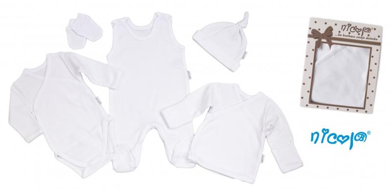 Súpravička do pôrodnice 5D Nicol - bílá, vel. 56