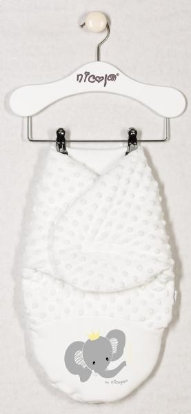 Minky Nicol zavinovacia deka, zavinovačka Sloník - smotanová - oteplená