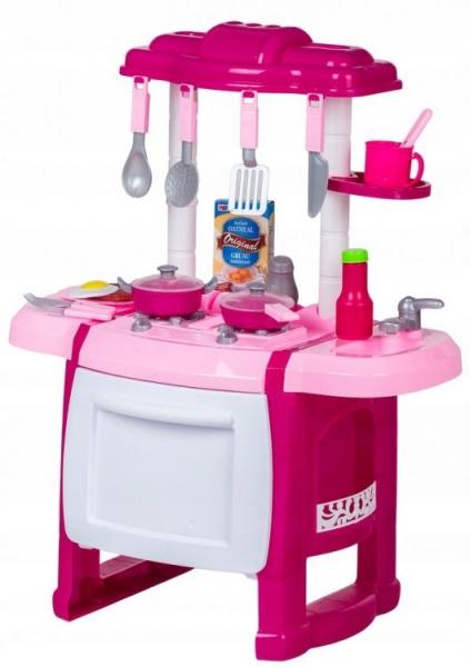 Wanyida Toys Detská kuchynka s príslušenstvom - ružová