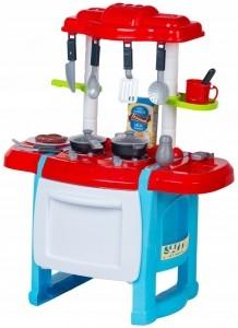 Wanyida Toys Detská kuchynka s príslušenstvom - červená/modrá
