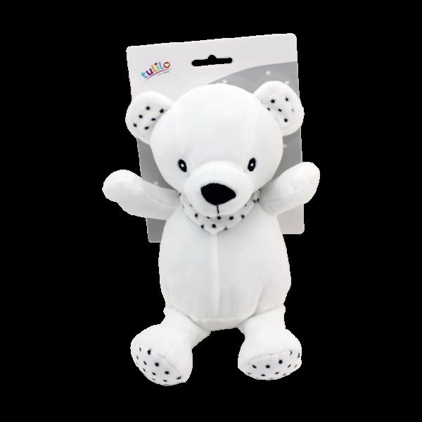 Plyšová hračka Tulilo Macko, 20 cm - black&white, K19