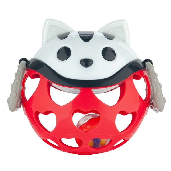 Interaktívna hračka Canpol Babies, loptička s hrkálkou - Mačička