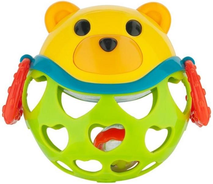 Interaktívna hračka Canpol Babies, loptička s hrkálkou - Medvedík