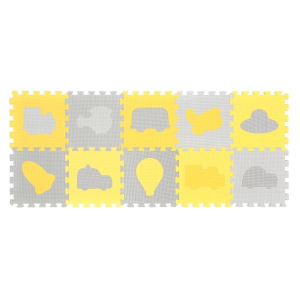 BabyOno Penové puzzle - Dopravné prostriedky - 10 ks 394/01